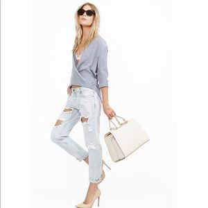 Six Crisp Days twisted wrap blouse size L
